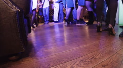 People dancing in the restaurant. Stock Footage