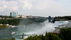 American Niagara Falls Stock Footage