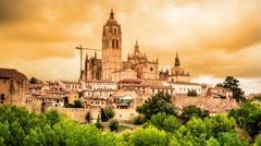 Segovia Spain Time Lapse Stock Footage