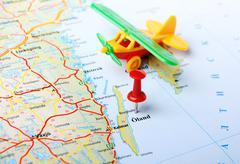 Oland ,Sweden map airplane Stock Photos