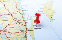 Oland,Sweden map Stock Photos