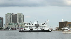Ferry Boat in Toronto Stock Footage