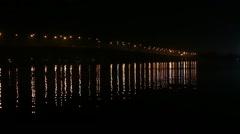 Bridge Dnepropetrovsk Night Stock Footage