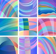 Stock Illustration of background smooth abstract design set