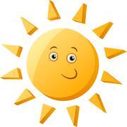 Stock Illustration of funny sun cartoon illustration