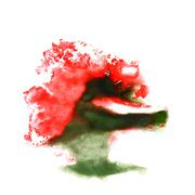 macro red, green spot blotch  texture isolated on white texture - stock illustration