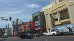 Stock Video Footage of Kodak Dolby Theatre building Hollywood boulevard Los Angeles tourism destination