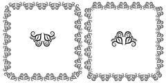 Set openwork vector floral frame for design Stock Illustration