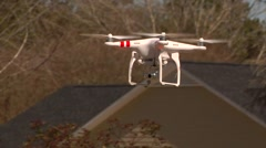 UAV-10, drone helicopter, MCU, drone moves right then left Stock Footage