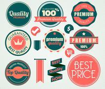 Stock Illustration of set of vintage sale and promotion badges