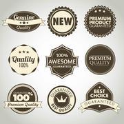 Set of vintage sale and promotion badges Stock Illustration