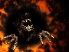 Monster in fire Kuvituskuvat