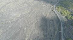 Aerial Footage Dry River Flood Plain Stock Footage