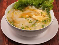 Glass noodle chicken soup thai style - stock photo