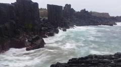 Waves On Rocks Ocean Dreamy Seascape Stock Footage