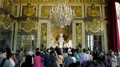 Hall of Mirrors, Versailles, France Stock Footage