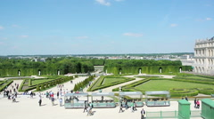 Visiting Versailles Garden Stock Footage