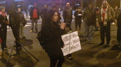 Justice protest for Rafael Briscoe Stock Footage