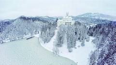 Castle Trakoscan in Croatia Stock Footage