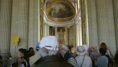 The Royal Chapel - Versailles Stock Footage