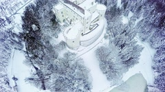 Castle Trakoscan aerial shot Stock Footage