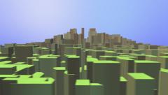 Growing City Boomtown Green Metropolis in Desert Stock Footage
