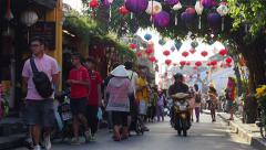 Street View of Hoi An, Central Vietnam Stock Footage
