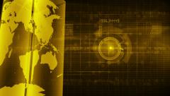 Abstract digital background YELLOW Stock Footage