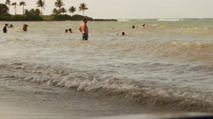 Caribbean vacation spring break on tropical island Stock Footage