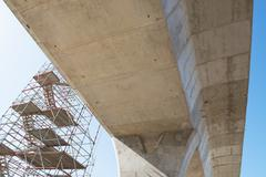 road under reconstruction - stock photo