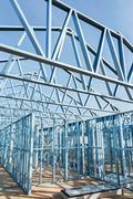 Stock Photo of Steel framework under construction