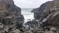 Ocean Waves on Rocks Dreamy Seascape Stock Footage