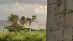 A Caribbean Resort golf course along the shores of tropical island paradise Stock Footage