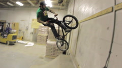 BMX Trick -Double Peg Wall- Extreme Sports Stock Footage