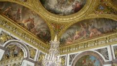 The Peace Saloon Roof Details - Versailles, France Stock Footage
