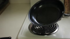 Morel Mushroom Cooking - Frying Stock Footage
