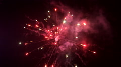 Fireworks exploding to celebrate the Chinese Lunar New Year Stock Footage