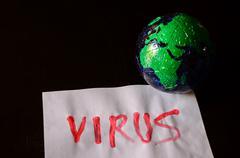 Word Virus Text Kuvituskuvat