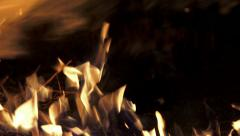 4K Realistic Fire with alpha matte  black background, easy integration. UHD s Stock Footage