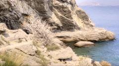 Black Sea coast, the mountain Koba-Kaya Stock Footage