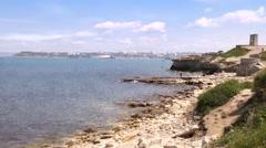 Coast of the Black sea Stock Footage