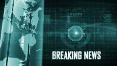 Abstract digital BREAKING NEWS background GREEN Stock Footage
