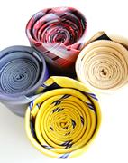 bright rolled ties isolated - stock photo