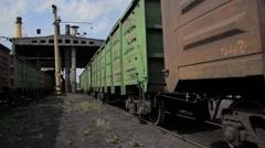 Railway train with coal Stock Footage