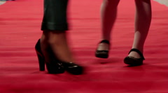 Red carpet walking legs - stock footage