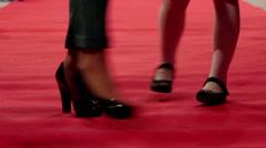 Red carpet walking legs Stock Footage