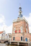 Grote of Sint-Laurenskerk (St. Lawrence church) in Alkmaar, The Netherlands - stock photo
