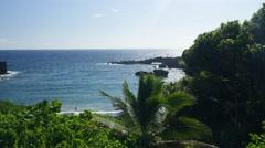 Waianapanapa, Black Sand Beach, Road to Hana, Maui, Hawaii Stock Footage