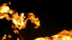 4k Red fire LOOP, Alpha channel from black background. UHD stock video. Stock Footage