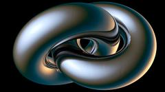 Chromium double toroid Stock Illustration